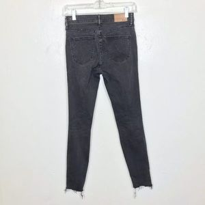 Madewell Jeans - Madewell High Riser Skinny Jeans Frayed Raw Hem